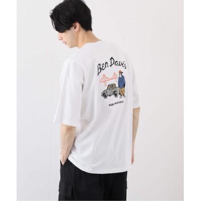 メンズ ベーセーストック 【BEN DAVIS / ベンデイビス】 rude emb big Tシャツ ホワイト M