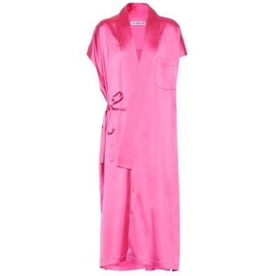 バレンシアガ Balenciaga レディース ワンピース ミドル丈 ワンピース・ドレス Judo stretch-satin midi dress Shocking Pink