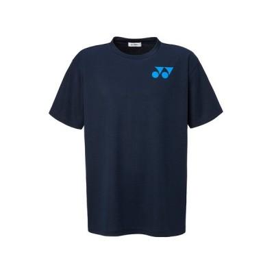 ヨネックス(YONEX) テニスウェア Tシャツ メンズ RWX20001-019 半袖 吸汗速乾 ワンポイントロゴ ネイビー (メンズ、レディース)