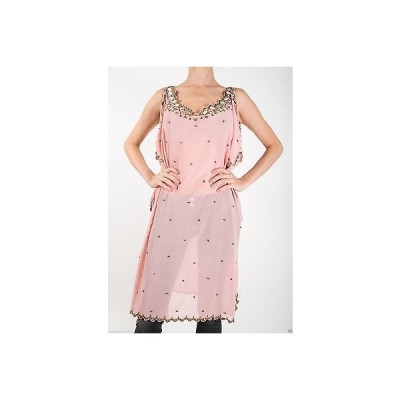 ドレス 海外セレクション T-Bags Los Angeles Sequinned mirror chiffon dress cover up in Pink