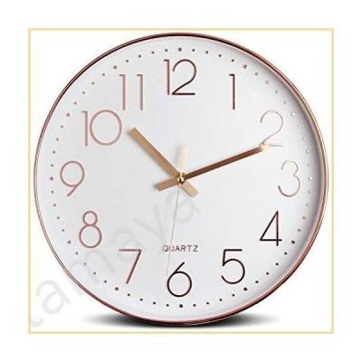 Tebery 12インチ サイレントモダン壁掛け時計 電池式 装飾壁時計 リビングルーム ホーム オフィス 学校用