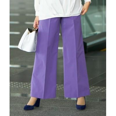 【大きいサイズ】 センタープレスワイドパンツ(ゆったりヒップ) パンツ, plus size pants