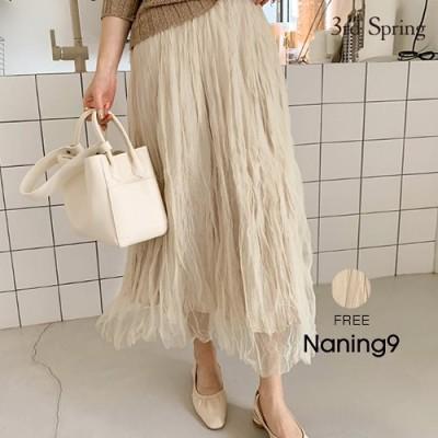 NANING9(ナンニング)くしゅくしゅシアースカート