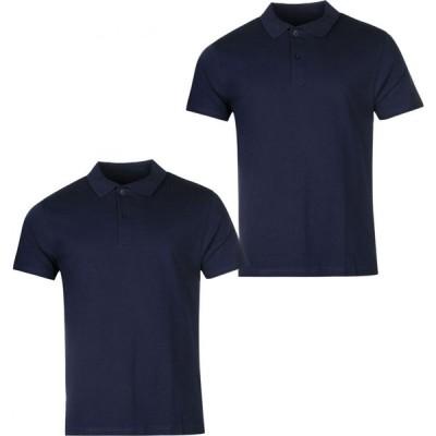 ドネー Donnay メンズ ポロシャツ トップス Two Pack Polo Shirts Navy