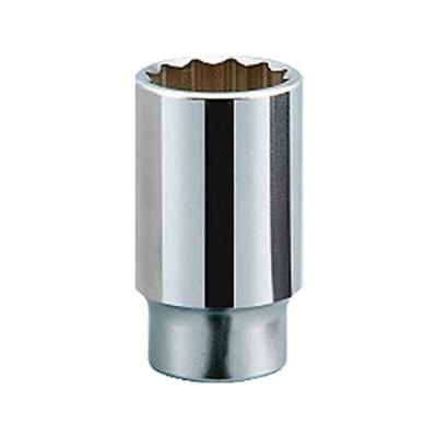 京都機械工具(KTC) 19.0mm (3/4インチ) ディープソケット (十二角) 42mm B4542