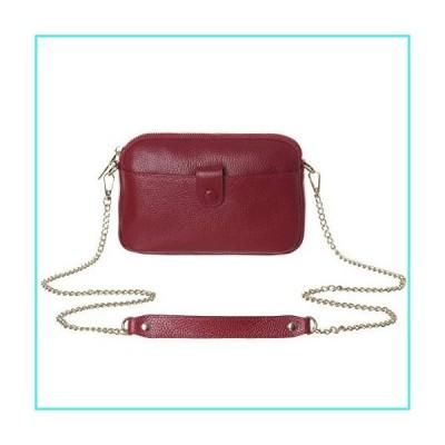 【新品】Crossbody Bag for Women,HAIDEXI Leather Ultra Soft Multi Pockets Shoulder Bag Corssbody Purse for Women (Red)(並行輸入品)