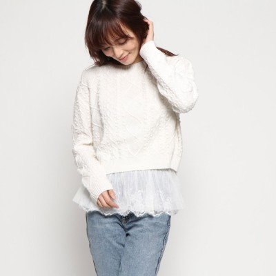 ゲス GUESS TECLA SWEATER (SCUFFY)