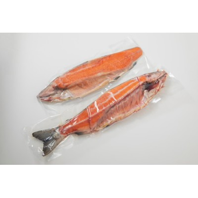 【B-001】【新物】オホーツク産 新巻鮭 切り身姿づくり 約3kg~3.3kg