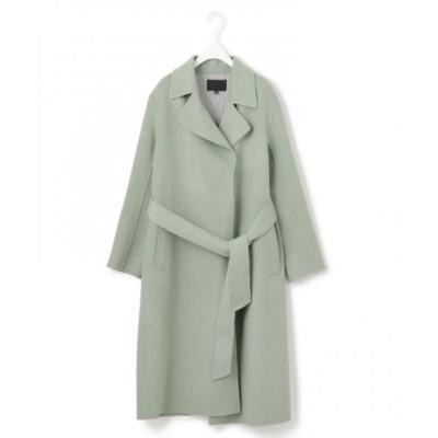 ICB/アイシービー 【マガジン掲載】WoolRever ベルテッドコート(番号CJ25) スモーキーグリーン系 6