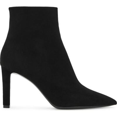 イヴ サンローラン Saint Laurent レディース ブーツ ショートブーツ シューズ・靴 Kate 85 Black Suede Ankle Boots Black