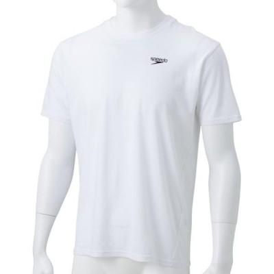 スピード 水泳 ショートスリーブスタンダードティー 19SS ホワイト Tシャツ(sa31910-w)