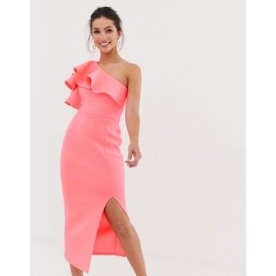 トゥルーバイオレット レディース ワンピース トップス True Violet exclusive one shoulder frill dress