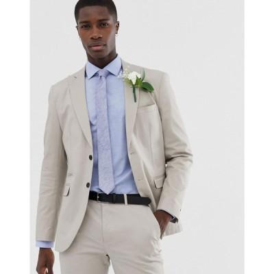 ジャック アンド ジョーンズ Jack & Jones メンズ スーツ・ジャケット アウター Premium slim wedding suit jacket in brushed cotton String