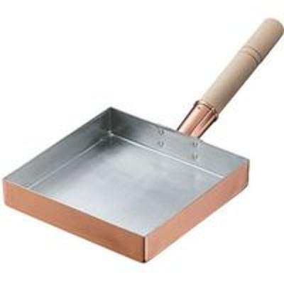 丸新銅器丸新銅器 銅玉子焼(西22.5~24cm用)用木柄 中細 釘付 060072 1個(直送品)