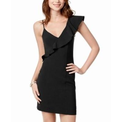 XOXO キスハグ ファッション ドレス XOXO NEW Black Womens Medium M Ruffle One Shoulder Bodycon Sheath Dress