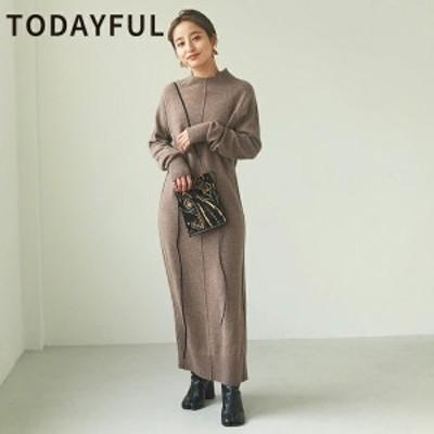 【SALE】【セール】【30%OFF】TODAYFUL トゥデイフル LIFEs ライフズ Fronttuck Knit Dress フロントタックニットドレス 12020301【202