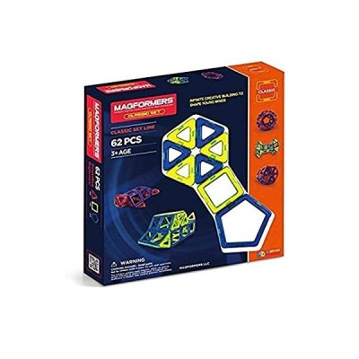 Magformers Classic Set (62-Pieces) Magnetic Building Blocks, Educational Ma