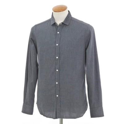 ギローバー GUY ROVER ハウンドトゥース柄 カジュアルシャツ グレー×ダークネイビー 39