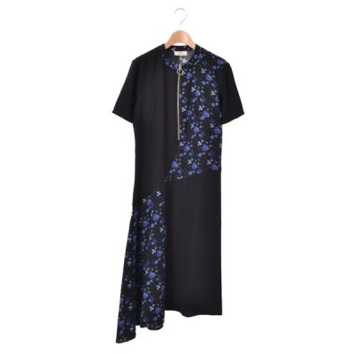 Rika BY ULRIKA LUNDGREN プリント ドレス ワンピース S ブラック リカ