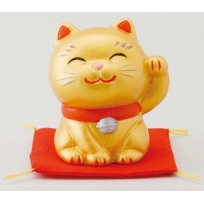 幸せ招き猫 特小 金(左手上げ)