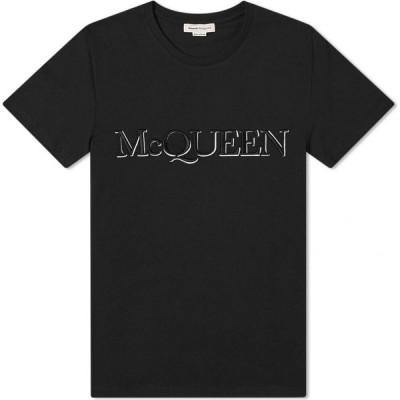 アレキサンダー マックイーン Alexander McQueen メンズ Tシャツ ロゴTシャツ トップス Mcqueen Embroidered Logo Tee Black/Mix