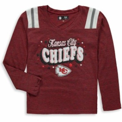 New Era ニュー エラ スポーツ用品  New Era Kansas City Chiefs Girls Youth Red Starring Role Long Sleeve Tri-Blend V-Ne