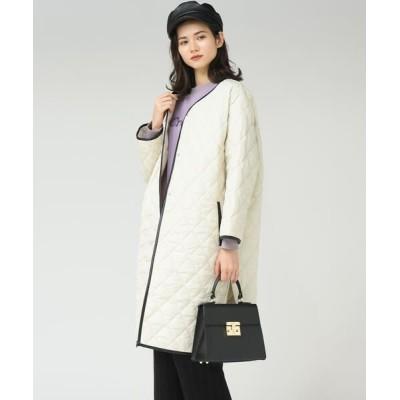MAYSON GREY/メイソングレイ 【socolla】合皮パイピング中綿キルトコート オフホワイト S