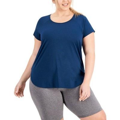イデオロギー Tシャツ トップス レディース Plus Size Sweat Set T-Shirt, Created for Macy's Moonlit Ocean
