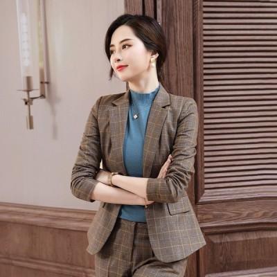Newしい秋のカジュアルスリムスーツビジネスウェアのスーツスーツジャケットWomen韓国語版
