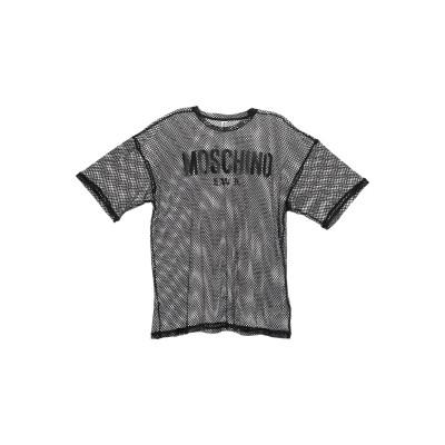 モスキーノ MOSCHINO T シャツ ブラック M ナイロン 100% / ポリエステル T シャツ