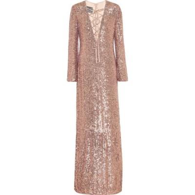 モニーク ルイリエ Monique Lhuillier レディース パーティードレス ワンピース・ドレス Sequined gown Rose Gold