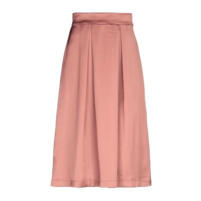 ツインセット シモーナ バルビエリ TWINSET ひざ丈スカート ライトブラウン XS 96% ポリエステル 4% ポリウレタン ひざ丈スカート