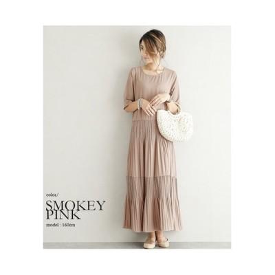 【la-gemme】ティアードプリーツワンピース (ワンピース)Dress
