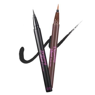 [ETUDE HOUSE/エチュードハウス]ドローイングショーブラッシュアイライナーBR401ブラウン BK801ブラック/0.6g (2種)/Drawing Show Brush Eyeliner