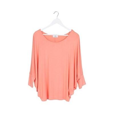 (ミズミス) Ms.Miss 七分袖 ドルマンスリーブ カットソー チュニック レディース トップス Tシャツ シャツ 大きいサイズ ワンサ