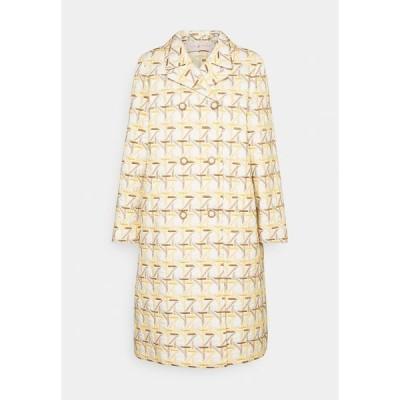 トリーバーチ コート レディース アウター EMBROIDERED PEACOAT - Classic coat - caning ivory/sunny day/classic caramel