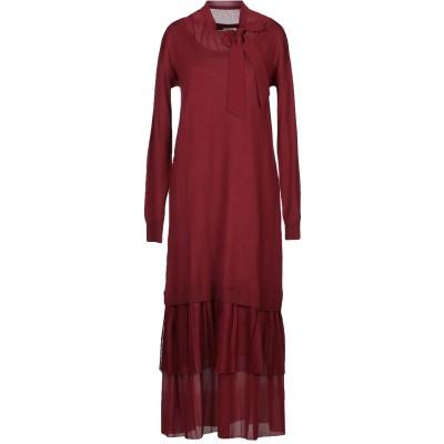 LE COEUR TWINSET 7分丈ワンピース・ドレス ボルドー XS アクリル 50% / ウール 50% / ポリエステル 7分丈ワンピース