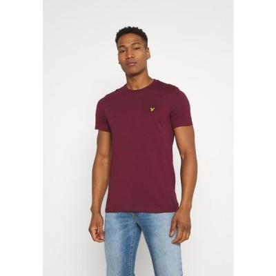 ライルアンドスコット メンズ ファッション PLAIN - Basic T-shirt - merlot