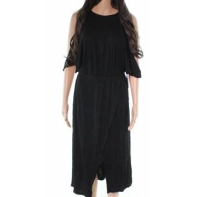 Bishop + Young  ファッション ドレス Bishop + Young NEW Black Cold Shoulder Women Medium M Tie Waist Dress