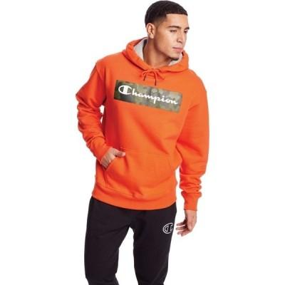 チャンピオン パーカー・スウェットシャツ アウター メンズ Champion Men's Powerblend Camo Logo Hoodie Orange