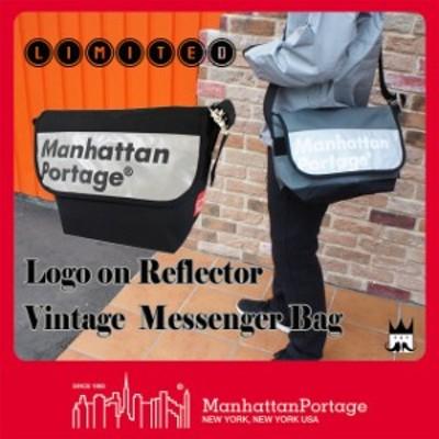 送料無料 マンハッタンポーテージ Manhattan Portage メンズ レディース バッグ MP1606V-JR-REF-L ロゴオン リフレクター メッセンジャー