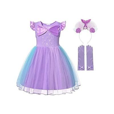 MUABABY Baby Girl Little Princess Snow,Belle,Little Mermaid,Anna,Cinderella