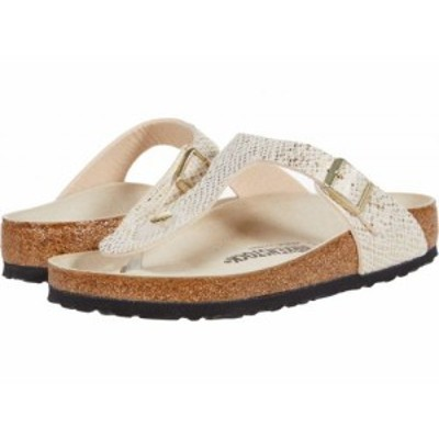 Birkenstock ビルケンシュトック レディース 女性用 シューズ 靴 サンダル Gizeh Shiny Python Eggshell Microfiber【送料無料】
