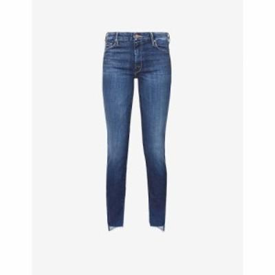 マザー MOTHER レディース ジーンズ・デニム ハイライズ ボトムス・パンツ The Looker Ankle Fray Skinny High-Rise Jeans Skunk At The