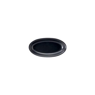 トリノ 18cm プラター 黒マット 洋食器 楕円・変形プレート 15cm〜20cm 業務用 カネスズ 約L18.3cm サラダ