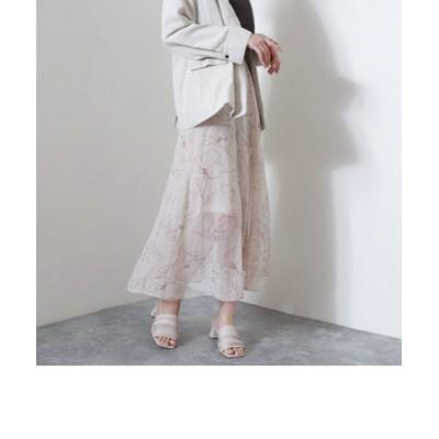 手書き風花柄マーメイドスカート