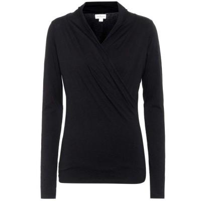 ベルベット グラハム&スペンサー Velvet レディース トップス meri stretch-cotton jersey top Black