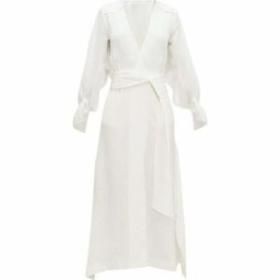 ローラン ムレ Roland Mouret レディース ワンピース ワンピース・ドレス Springbrooke chevron-jacquard silk-crepe dress White