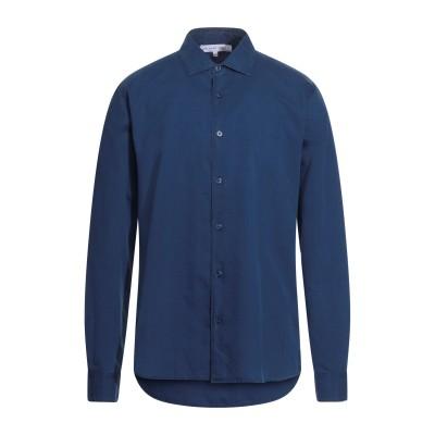 オールバー ブラウン ORLEBAR BROWN シャツ ダークブルー L コットン 100% シャツ