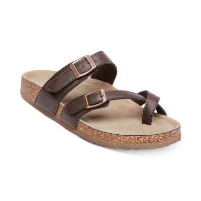 マッデンガール サンダル シューズ レディース Bryceee Footbed Sandals Dark Brown